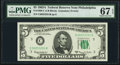 Small Size:Federal Reserve Notes, Fr. 1968-C $5 1963A Federal Reserve Note. PMG Superb Gem Unc 67 EPQ.. ...