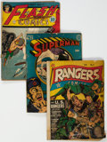 Golden Age (1938-1955):Miscellaneous, Golden Age Comics Group of 3 (Various Publishers, 1940s).... (Total: 3 Comic Books)