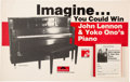"""Music Memorabilia:Memorabilia, John Lennon & Yoko Ono """"Imagine You Could Win Their Piano"""" Giveaway with Stack of Entry Forms (1984)...."""