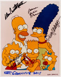 """Movie/TV Memorabilia:Autographs and Signed Items, The Simpsons Family Cast and Creator Signed 8"""" x 10"""" Photo...."""