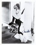 """Movie/TV Memorabilia:Autographs and Signed Items, Mae West Signed 8"""" x 10 ¼"""" Black and White Photo. ..."""