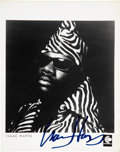 "Movie/TV Memorabilia:Autographs and Signed Items, Isaac Hayes Signed 8"" x 10"" Promo Photo...."