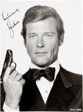 """Movie/TV Memorabilia:Autographs and Signed Items, Roger Moore Signed and Inscribed 7 ¼"""" x 9 ½"""" Promo Photo. ..."""
