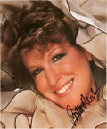 """Movie/TV Memorabilia:Autographs and Signed Items, Bette Midler Signed 8 ½"""" x 10"""" Photo...."""
