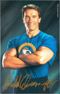 "Movie/TV Memorabilia:Autographs and Signed Items, Arnold Schwarzenegger Signed 5 ½"" x 8 ½"" Photo...."