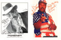 Movie/TV Memorabilia:Autographs and Signed Items, Rudy Ray Moore Signed and Inscribed Photos (2)....