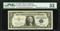 Mismatched Serial Numbers Error Fr. 1619 $1 1957 Silver Certificate. PMG About Uncirculated 53