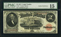 Error Notes:Large Size Errors, Fr. 57 $2 1917 Legal Tender PMG Choice Fine 15.. ...