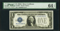 Fr. 1601* $1 1928A Silver Certificate Star. PMG Choice Uncirculated 64 EPQ