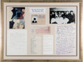 "Music Memorabilia:Memorabilia, Stuart Sutcliffe ""The Beatles Era"" Limited Edition Replica of Materials Display from Pauline Sutcliffe...."