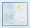 Music Memorabilia:Memorabilia, The Beatles Louise Harrison Two Handwritten Letters & Original Envelopes in Mat (2) (1968,1969). ...