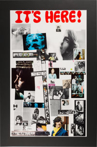 """The Beatles White Album """"It's Here!"""" Original Promotional Poster in Mat (Apple, 1968)"""