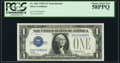 Fr. 1601 $1 1928A Silver Certificate. Z-B Experimental. PCGS Choice About New 58PPQ