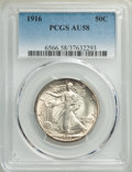 1916 50C AU58 PCGS. PCGS Population: (221/1519). NGC Census: (120/1074). CDN: $375 Whsle. Bid for NGC/PCGS AU58. Mintage...
