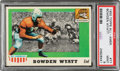 Football Cards:Singles (1950-1959), 1955 Topps Bowden Wyatt #77 PSA Mint 9 - Only Two Higher....