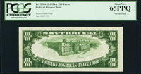 Fr. 2006-G $10 1934A Federal Reserve Note. PCGS Gem New 65PPQ