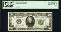 Fr. 2051-K $20 1928A Federal Reserve Note. PCGS Very Choice New 64PPQ