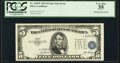 Misaligned Third Printing Error Fr. 1655* $5 1953 Silver Certificate Star. PCGS Very Fine 35