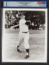 1950s Mickey Mantle Team Issued Photograph, PSA/DNA Type I - Image Used for 1958 Topps All-Star Card