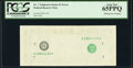 Missing Face Printing Error Fr. ?-G $1 ? Federal Reserve Note. PCGS Gem New 65PPQ