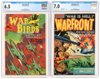 War Birds #2/Warfront #13 CGC-Graded Group (Fiction House/Harvey, 1952-53).... (Total: 2 Comic Books)