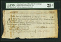 Maryland Loan Office Bill of Exchange Fourth Bill $12 = 60 Livres Tournois October 19, 1781 Anderson MD4B-US94 PMG Very...
