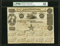 Austin, TX- Republic of Texas Certificate of Stock $100 June 15, 1840 Cr. 40E Medlar UNL PMG Choice Extremely Fine