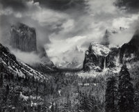 Ansel Adams (American, 1902-1984) Clearing Winter Storm, Yosemite Valley, California, 1944 Gelatin s