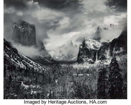 Ansel Adams (American, 1902-1984)Clearing Winter Storm, Yosemite Valley, California, 1944Gelatin silver, 198015-1/...