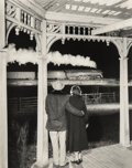Photographs, O. Winston Link (American, 1914-2001). Mr. and Mrs. Pope Watch the Last Steam Powered Passenger Train, Max Meadows, Virgin...