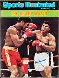 """Boxing Collectibles:Autographs, 1978 Muhammad Ali Signed """"Sports Illustrated"""" Magazine. ..."""