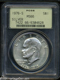 Eisenhower Dollars: , 1976-S Silver MS66 PCGS. ...