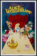 """Movie Posters:Animated, Alice in Wonderland (Buena Vista, R-1989). International One Sheet(27"""" X 41""""). Animated. Starring the voices of Kathryn Bea..."""