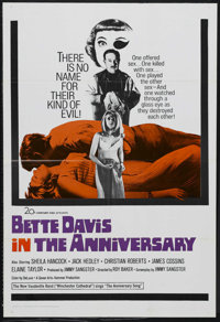 "The Anniversary (20th Century Fox, 1967). One Sheet (27"" X 41""). Comedy. Starring Bette Davis, Sheila Hancock..."