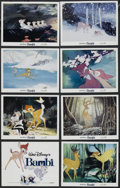 "Movie Posters:Animated, Bambi (Buena Vista, R-1982). Lobby Card Set of 8 (11"" X 14""). Animated Fantasy. Directed by James Algar, Samuel Armstrong, D... (Total: 8 Items)"