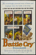 "Movie Posters:War, Battle Cry (Warner Brothers, 1955). One Sheet (27"" X 41""). War.Starring Van Heflin, Aldo Ray, Mona Freeman, Nancy Olson, Ja..."