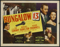 "Movie Posters:Mystery, Bungalow 13 (20th Century Fox, 1948). Half Sheet (22"" X 28"").Mystery. Starring Tom Conway, Margaret Hamilton, Richard Cromw..."