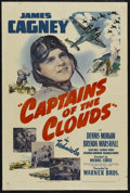 """Movie Posters:War, Captains of the Clouds (Warner Brothers, 1942). One Sheet (27"""" X41""""). War. Starring James Cagney, Dennis Morgan, Brenda Mar..."""