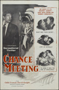 "Movie Posters:Drama, Chance Meeting (Pacemaker, 1955). One Sheet (27"" X 41""). Drama. Starring Odile Versois, David Knight, Joseph Tomelty, David ..."