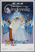"Movie Posters:Animated, Cinderella (Buena Vista, R-1987). One Sheet (27"" X 41""). Animated. Starring the voices of Ilene Woods, Eleanor Audley, Verna..."