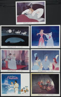 "Movie Posters:Animated, Cinderella (Buena Vista, R-1973). Title Lobby Card (11"" X 14"") andLobby Cards (6) (11"" X 14""). Animated Fantasy. Starring t...(Total: 7 Items)"