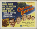"Movie Posters:War, Command Decision (MGM, 1948). Half Sheet (22"" X 28"") Style A. War.Starring Clark Gable, Walter Pidgeon, Van Johnson, Brian ..."