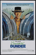 "Movie Posters:Adventure, Crocodile Dundee (Paramount, 1986). One Sheet (27"" X 41"").Adventure Comedy. Starring Paul Hogan, Linda Kozlowski, MarkBlum..."