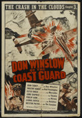 "Movie Posters:Action, Don Winslow of the Coast Guard (Universal, 1943). One Sheet (27"" X41""). Chapter 3 -- ""The Crash in the Clouds."" War Serial...."