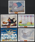 "Movie Posters:Animated, Dumbo (Buena Vista, R-1972). Lobby Card Set of 5 (11"" X 14"").Animated Children's. Directed by Samuel Armstrong, Norman Ferg...(Total: 5 Items)"