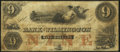 Wilmington, NC- Bank of Wilmington $9 Sep. 10, 1855 Fine