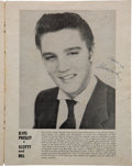 Music Memorabilia:Posters, Elvis Presley 1955 Andy Griffith Concert Program Signed by the King plus Scotty Moore, Bill Black & D.J. Fontana....