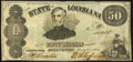 Obsoletes By State:Louisiana, Shreveport, LA- State of Louisiana $50 Mar. 10, 1863 Cr. 12 Very Fine-Extremely Fine.. ...