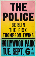 Music Memorabilia:Posters, The Police 1983 Hollywood Park, Los Angeles Concert Poster....