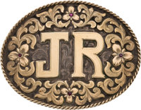 "Larry Hagman Dallas Worn ""JR"" Bohlin Belt Buckle Featured In Original Series and TNT Series"